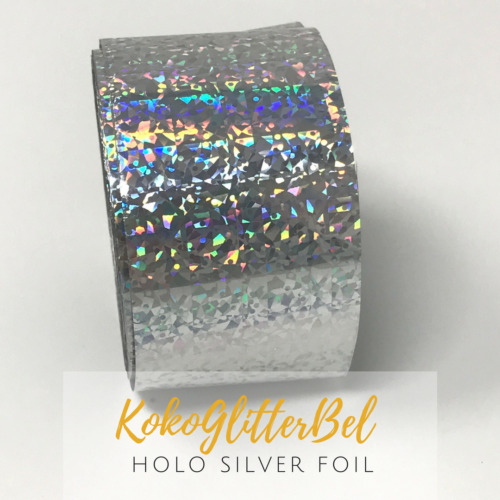 WOW Holographic Silver Nail Foil Nail Foile Art Design Holo *Choose your Length*