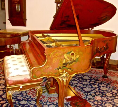 "Extraordinary Steinway 5'11"" O Model Piano with Chinoiserie Art Case"
