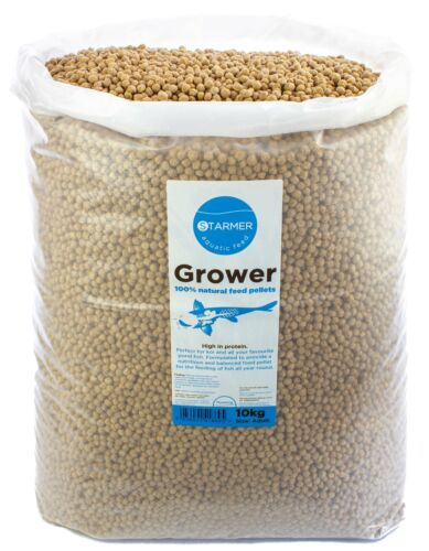 Koi carp 30% protein GROWER floating pond feed all natural growth pellets 10kg