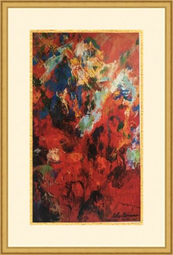 """Leroy Neiman """" Red Orchestra """" Custom Framed Print FREE SHIPPING"""