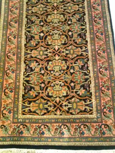 """Luxury Hand Knotted Runner New Zealand Wool Rug 118"""" x 30"""""""