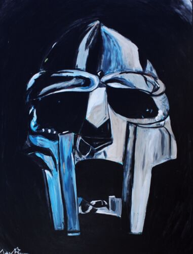 MF DOOM PAINTING MASK VICTOR VAUGHN OPERATION DOOMSDAY DANGERMOUSE HIPHOP RAP X