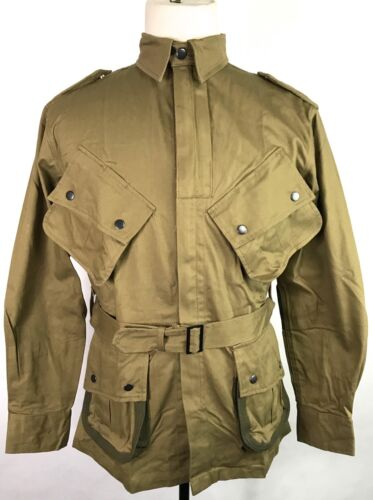 WWII US AIRBORNE PARATROOPER M1942 M42 REINFORCED JUMP JACKET- MEDIUM/LARGEUnited States - 156437