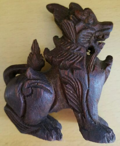 Wooden lion from burma