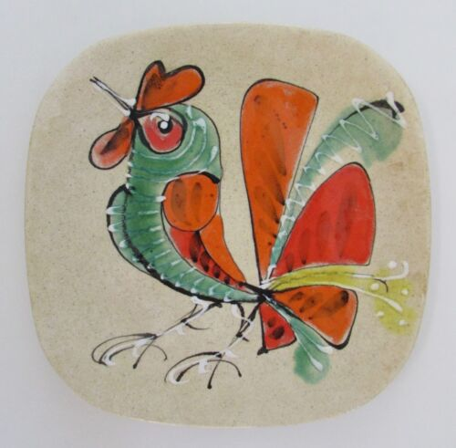 Mid Century French Rooster Plate