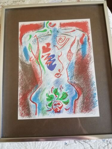 Art By  Andre Masson  print in frame