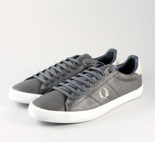 Fred Perry Howells Leather Men's Trainer Shoes B7508-491 - Charcoal