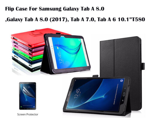 For Samsung Galaxy Tab A 7.0 8.0 Tab A 6 10.1 Screen Film/Flip PU Leather Case