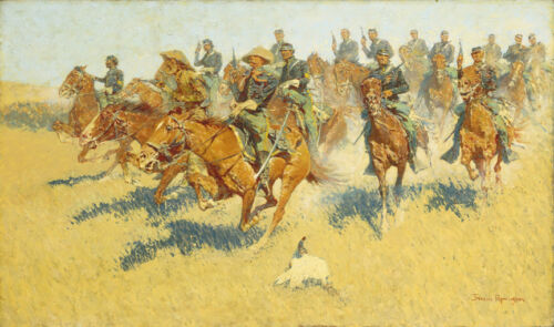 On the Southern Plains   by Frederic Remington Giclee Canvas Print Repro