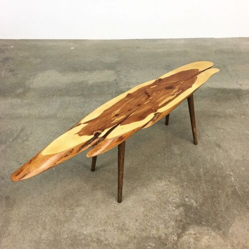 Modernist | Roy Sheldon Live Edge Cedar Table | Mid Century mccobb nakashima