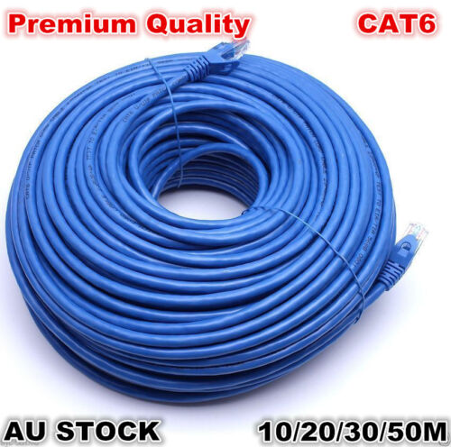 Premium 100M/1000Mbps CAT6 10M/20M/30M/50M Ethernet Rj45 Utp Lan Cable Network