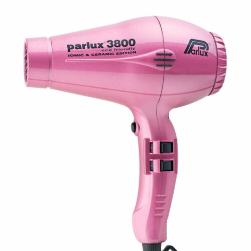 Parlux 3800 Eco Friendly Ionic & Ceramic Hair Dryer - Pink Salon Barber