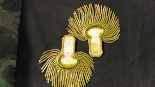 New Epaulettes Shoulder Pair GOLD Wire   Hard to Find    GEFF PRIDEOther Civil War Reproductions - 13961