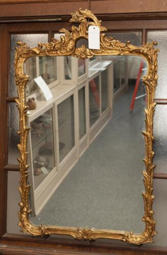 Gold gilt rectangular wall mirror
