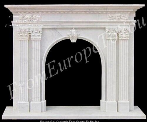 HAND CARVED MARBLE CLASSICAL FIREPLACE MANTEL FPL31
