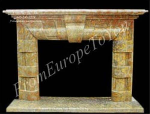HAND CARVED MARBLE CLASSICAL FIREPLACE MANTEL TLE24