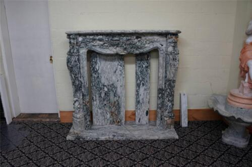 BEAUTIFUL HAND CARVED ESTATE FRENCH STYLE FIREPLACE MANTEL - HL027