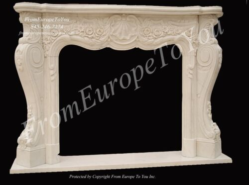 BEAUTIFUL HAND CARVED MARBLE FIREPLACE MANTEL MNTL9