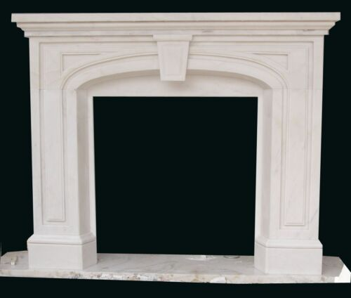 HAND CARVED MARBLE VICTORIAN STYLE FIREPLACE MANTEL #16