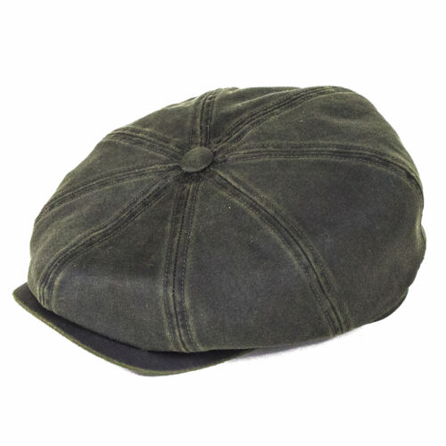 Stetson Hats Hatteras Bakerboy Cap - Olive