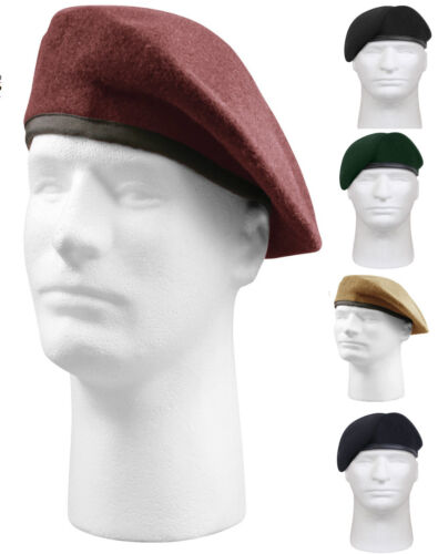 Military US Army Pre-Shaved Inspection Ready No Flash Wool Beret 4949 Rothco