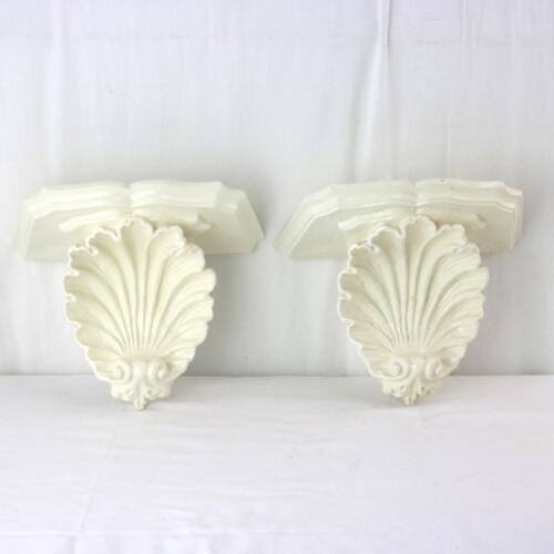 Pair of VTG Shell Wall Brackets Shelves Studio 45 Howard J Calderone Composition