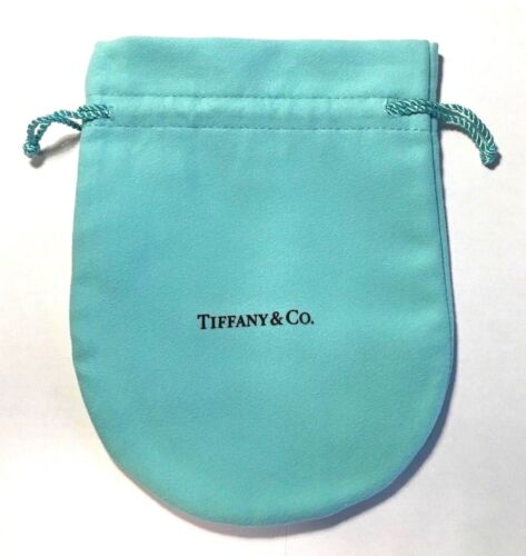 """NEW! AUTHENTIC TIFFANY SUEDE FABRIC MEDIUM GIFT BAG POUCH DRAWSTRING 6"""" X 5"""""""