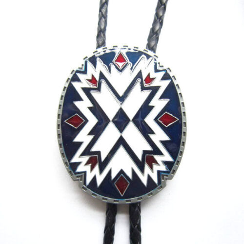 Native Southwest American Indian Western Cowboy Rodeo Bolo Tie