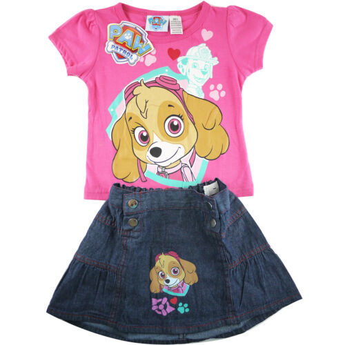 free ship Girls Paw patrol rescue marshall dogs top skirt kids skirt size 2-5 pk