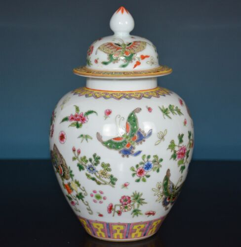 EXQUISITE CHINESE FAMILLE ROSE PORCELAIN VASE MARKED QIANLONG RARE N7912