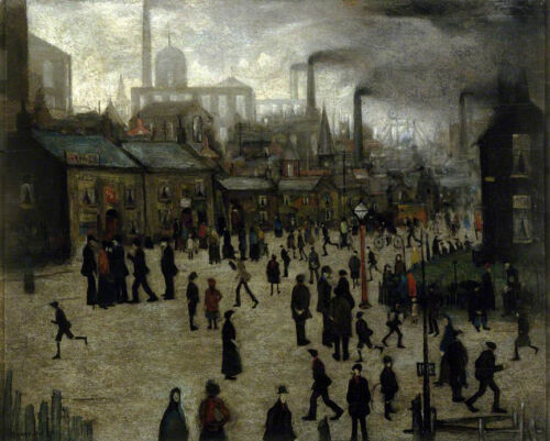 A Manufacturing Town  by LS Lowry   Giclee Canvas Print Repro