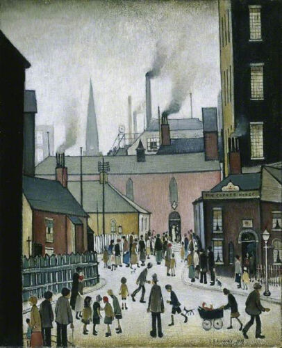 After the Wedding  by LS Lowry   Giclee Canvas Print Repro