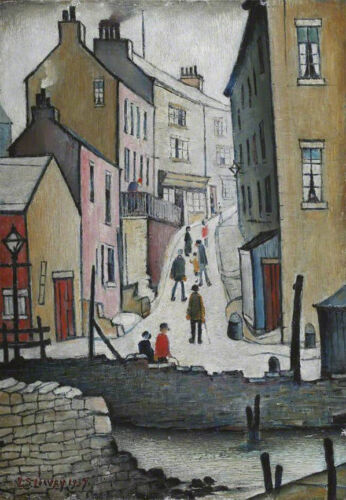 An Old Street  by LS Lowry   Giclee Canvas Print Repro