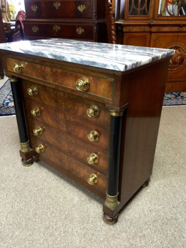 Mid Century Mahogany Marble Top Bachelors Chest Grand Rapids Michigan