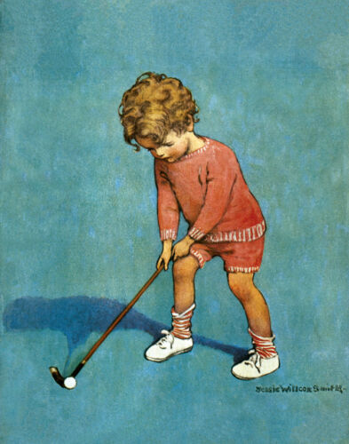 """I Can Play Golf  by Jessie Wilcox Smith  20"""" Paper Print  Repro"""