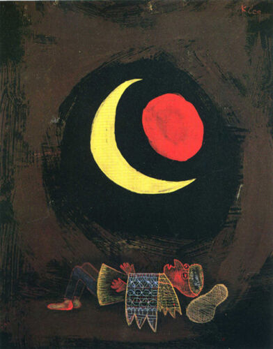 Strong Dream  by Paul Klee  Giclee Canvas Print Repro