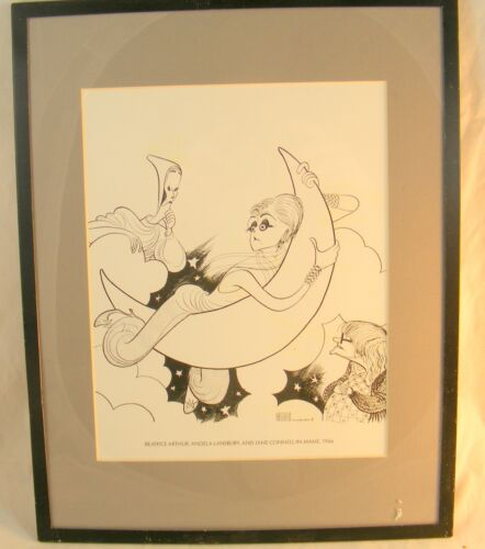 Framed Hirscheld Character Drawings - Artwork B. Arthur, Lansbury & Conne 14X11