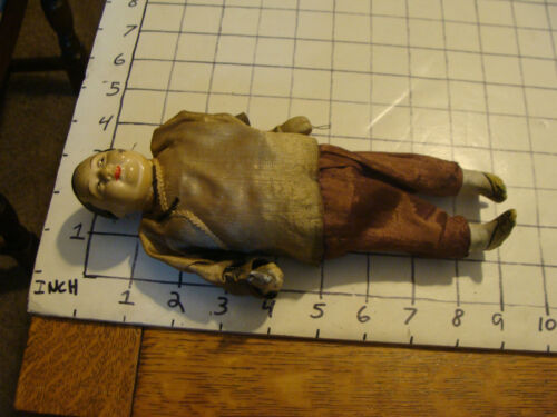 "Original Vintage CHINESE doll: aprox 9"", older lady, holding something"