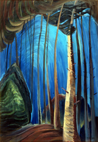 Blue Sky  by Emily Carr   Giclee Canvas Print Repro