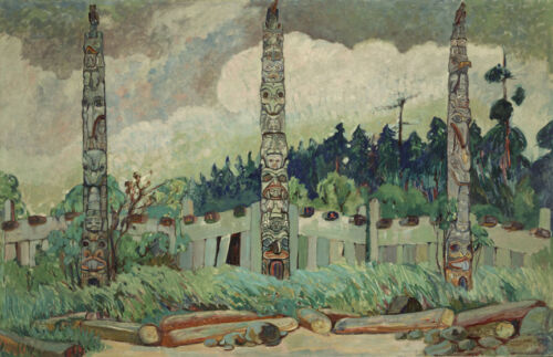 Tanoo, Queen Charlotte Island  by Emily Carr   Giclee Canvas Print Repro