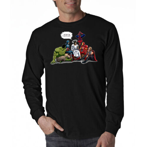 And That's How I Saved The World Jesus Superheros Long Sleeve T-Shirt NEW