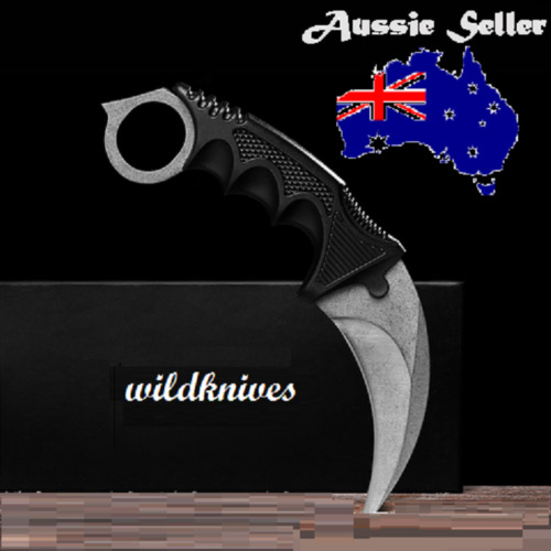 Outdoor Camping Hunting Knife Blade & Plastic Sheath  Silver Colour