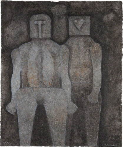 Two Brothers  by Rufino Tamayo  Giclee Canvas Print Repro