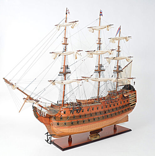 """XL HMS Victory Lord Nelson's Flagship 58"""" Tall Ship Model Wooden Fully Assembled"""