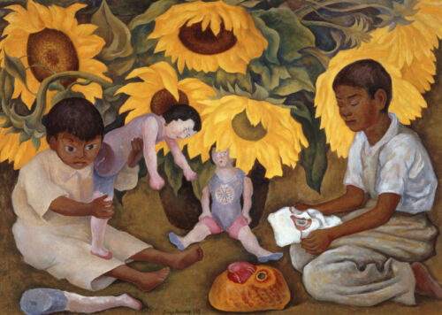Sunflowers  by Diego Rivera  Giclee Canvas Print Repro