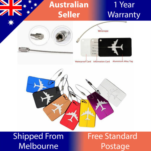 Aluminium Travel Luggage Tag Baggage Suitcase Bag Identity Address Name Labels