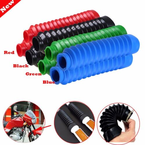 Motorcycle Rubber Front Fork Gaiters Dust Cover Gators Boots For Motorbike Dirt