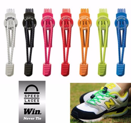 Elastic Shoe Lock Laces Sports Triathlon Running Race Speedlaces Genuine Nathan <br/> Variety Colors | High Quality | Genuine Lock Laces