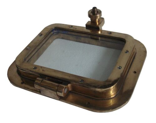 "Marine BRASS PORT HOLE / Window / Porthole - 6"" x 8"" Glass - 100% SATISFACTION"