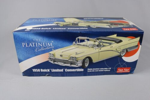 ZC434 Sunstar 4812 Voiture Miniature 1/18 Buick Limited Convertible 1958 White